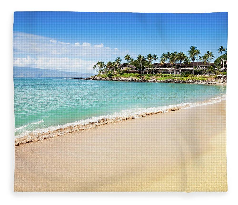 Lahaina Fleece Blanket featuring the photograph Dream Beach Napili Bay Maui Hawaii by Mlenny