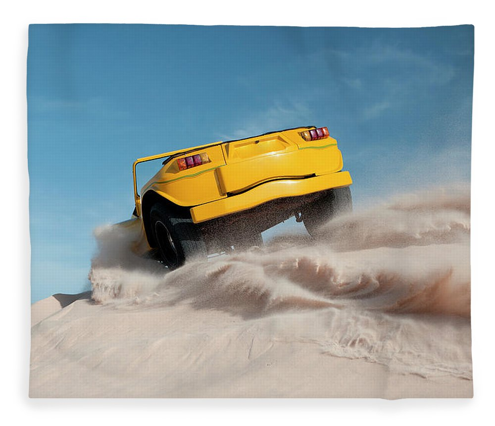 Dust Fleece Blanket featuring the photograph Driving On Sand, Jericoacoara, Brazil by Tunart