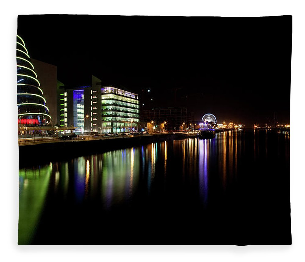 Dublin Fleece Blanket featuring the photograph Dublin City Along Quays by Image By Daniel King