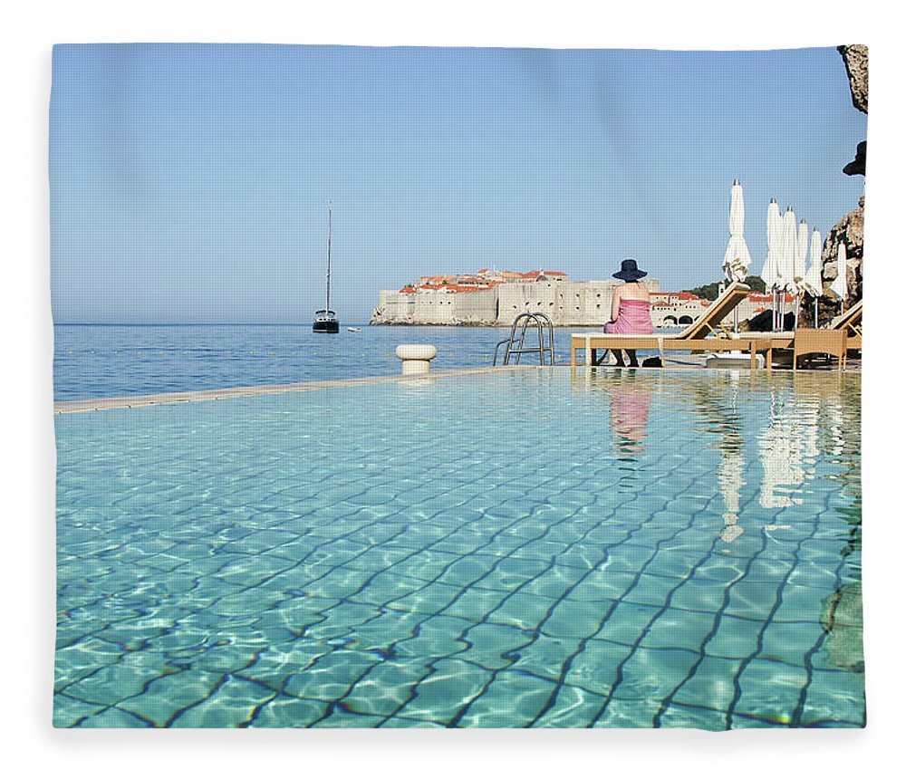 Adriatic Sea Fleece Blanket featuring the photograph Dubrovnik In Dalmatia, Croatia by Davidcallan