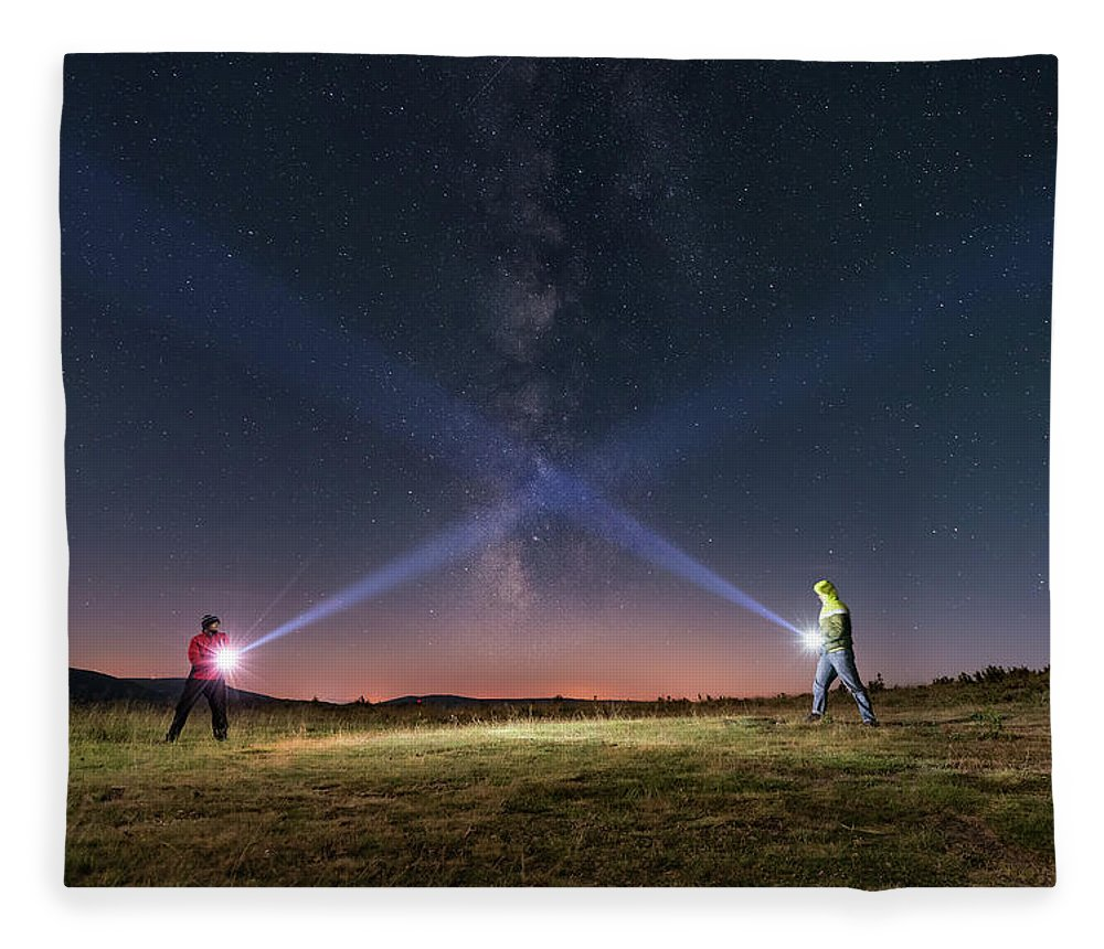 People Fleece Blanket featuring the photograph Duel Of Light by Carlos Fernandez