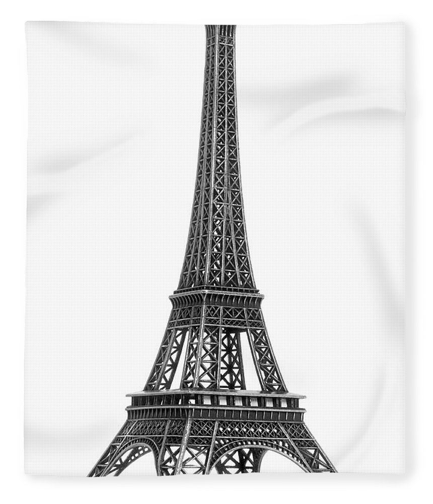 Architectural Model Fleece Blanket featuring the photograph Eiffel Tower by Jamesmcq24