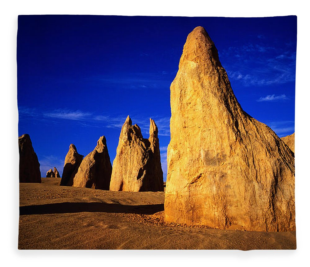 Toughness Fleece Blanket featuring the photograph Eroded Rock Formations, Pinnacles by John Banagan