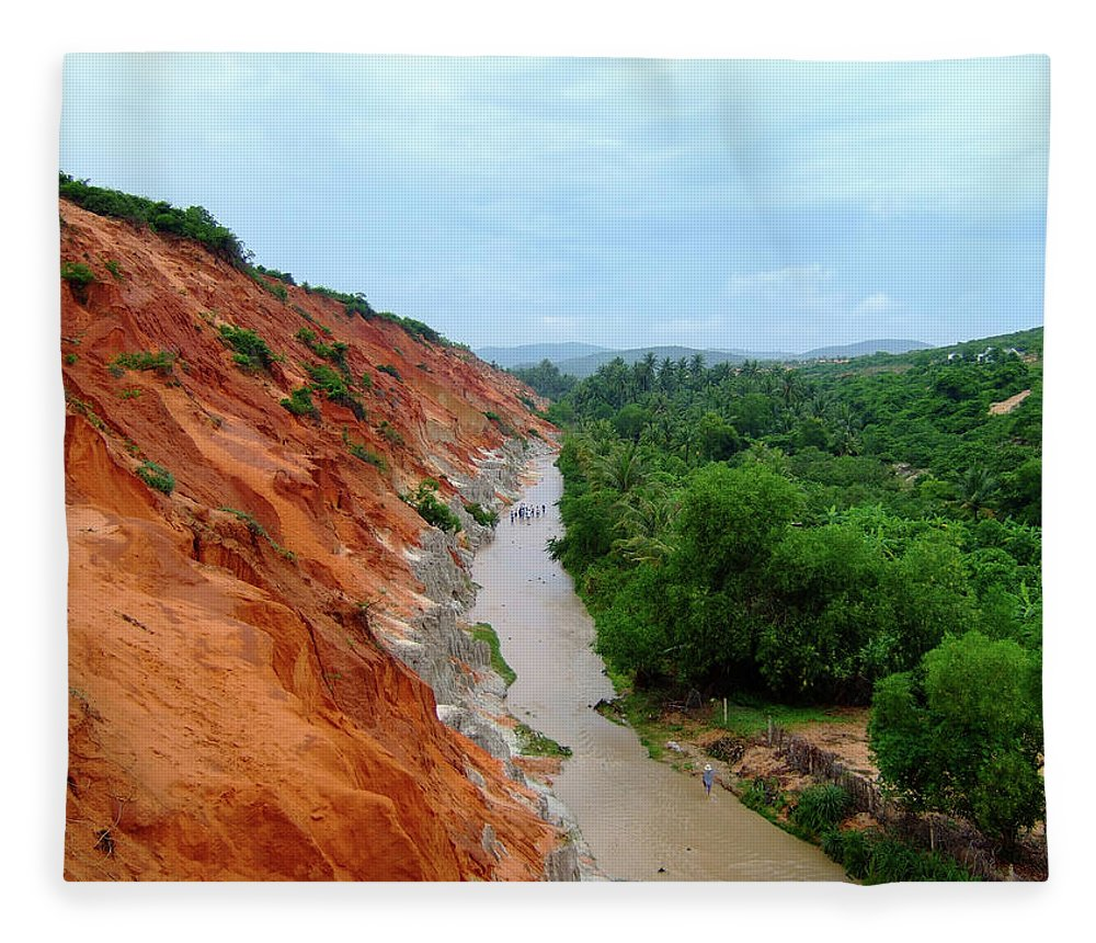 Tranquility Fleece Blanket featuring the photograph Fairy Springs In Mui Ne by Thomas Davis
