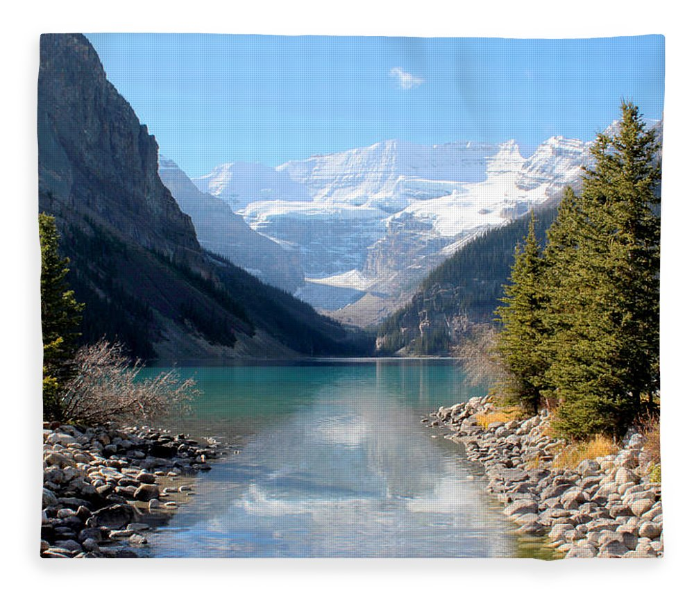 Tranquility Fleece Blanket featuring the photograph Fall At Lake Louise , Alberta, Canada by Cynthia Russell Photography