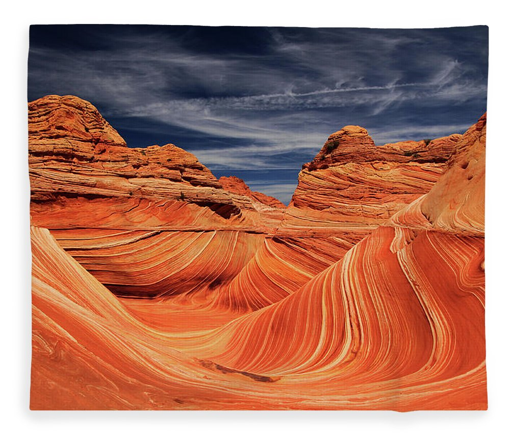 Tranquility Fleece Blanket featuring the photograph Fantastic Wave by By Chakarin Wattanamongkol