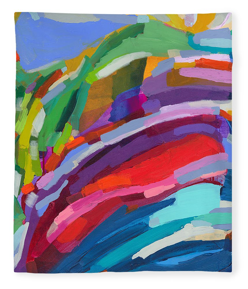 Abstract Fleece Blanket featuring the painting Felicity by Claire Desjardins
