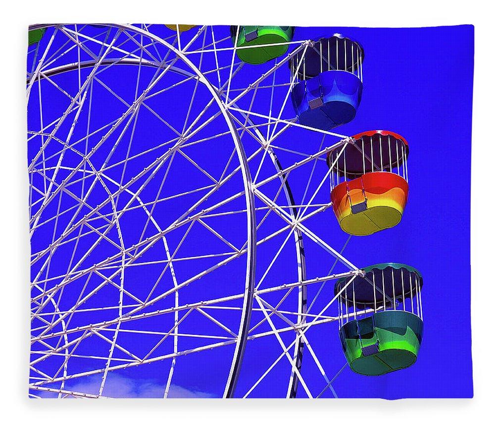 Outdoors Fleece Blanket featuring the photograph Ferris Wheel, Sydney, Australia by Hans-peter Merten