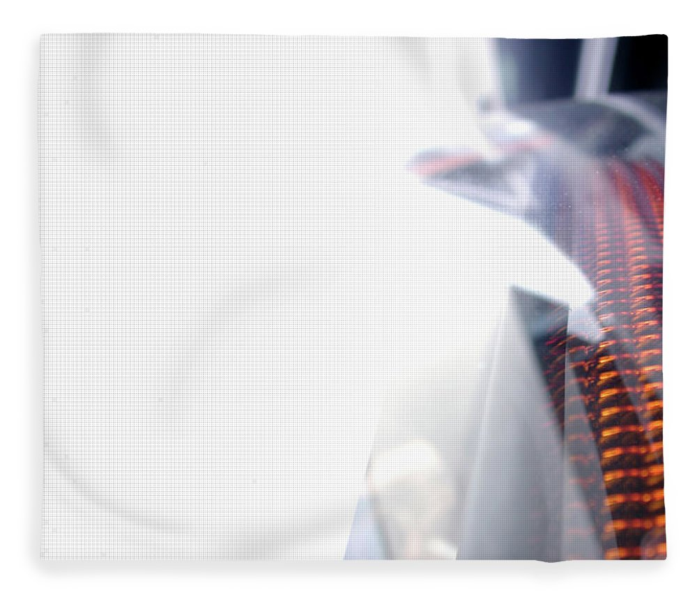 Internet Fleece Blanket featuring the photograph File Transfer 2 by Dansin