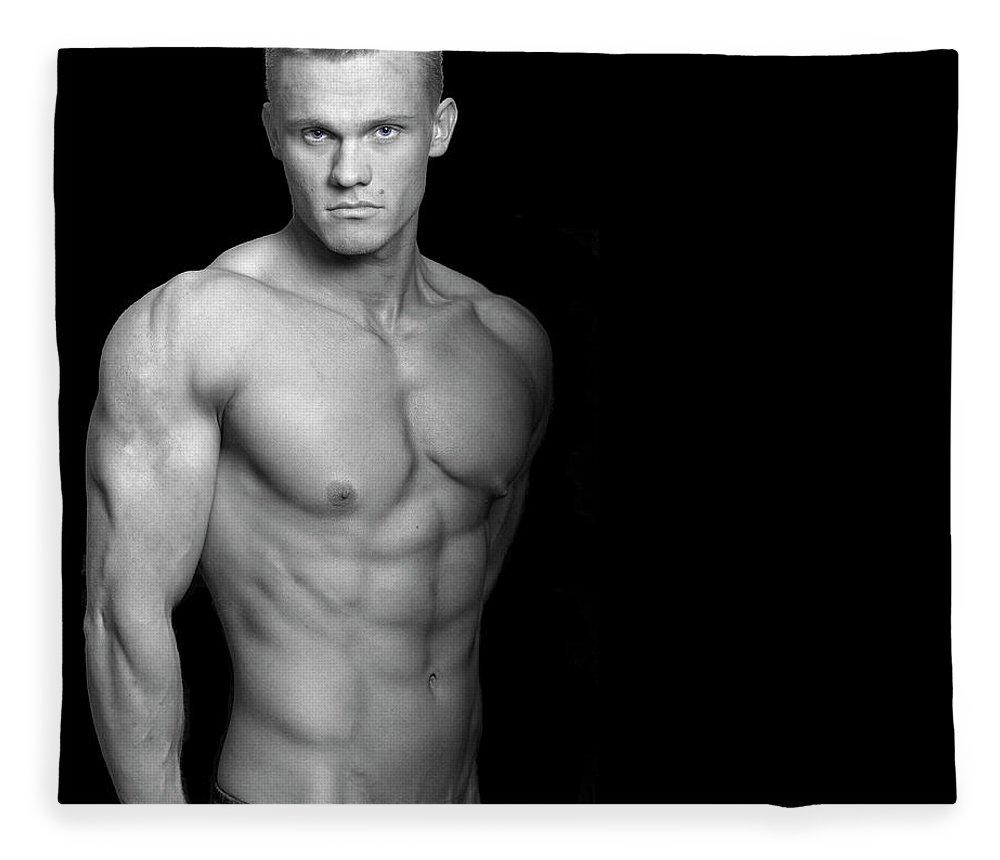 Cool Attitude Fleece Blanket featuring the photograph Fitness Portrait by Ragnak