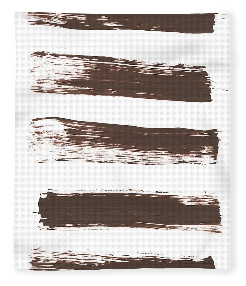 Textured Fleece Blanket featuring the photograph Five Tan Streaks Of Paint by Kevinruss