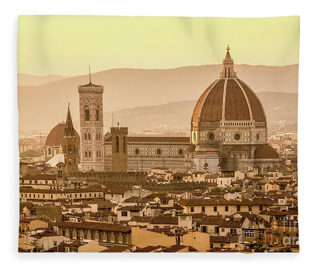 Florence Fleece Blanket featuring the photograph Florence Duomo by Delphimages Photo Creations