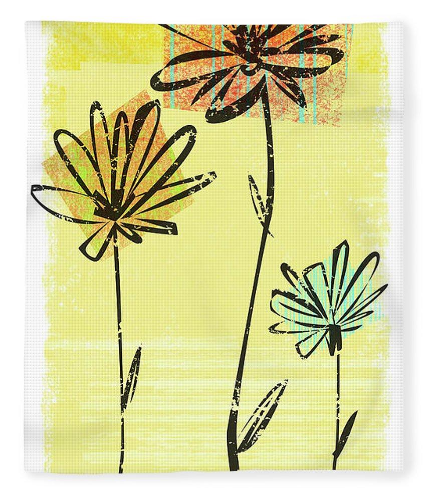 California Fleece Blanket featuring the digital art Flowers In Springtime by Harry Briggs