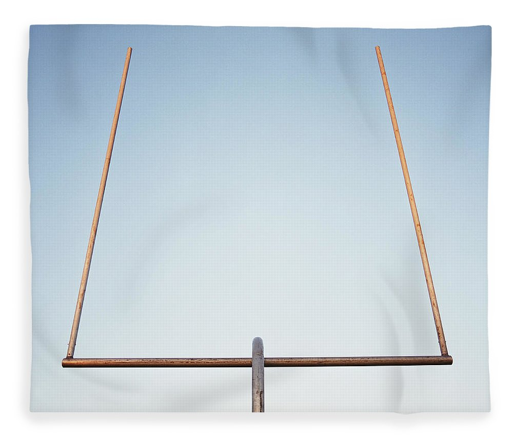 Goal Fleece Blanket featuring the photograph Football Goal Post by Mike Powell