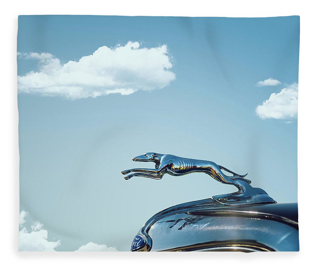 1934 Ford Fleece Blanket featuring the photograph Ford Greyhound by Scott Norris