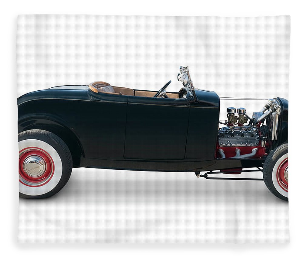 Shadow Fleece Blanket featuring the photograph Ford Roadster From 1932 by Schlol