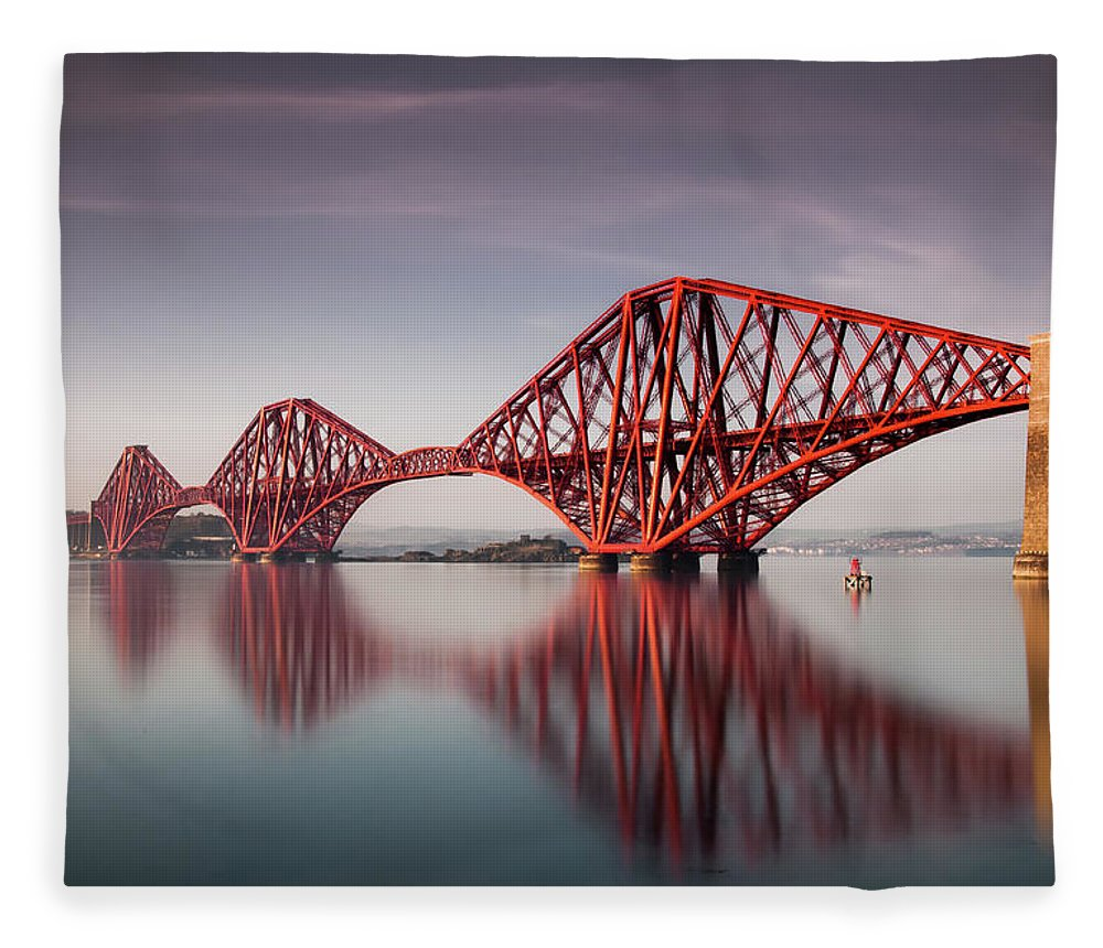 Built Structure Fleece Blanket featuring the photograph Forth Rail Bridge by Jon Wild