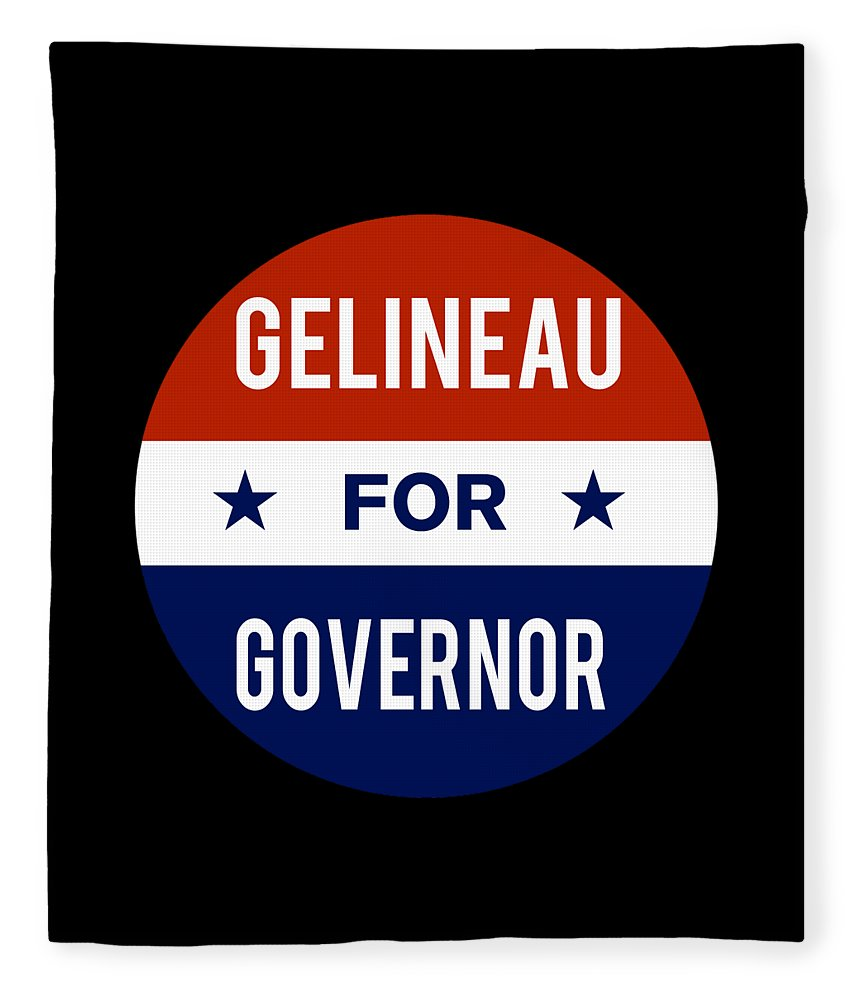 Election Fleece Blanket featuring the digital art Gelineau For Governor 2018 by Flippin Sweet Gear