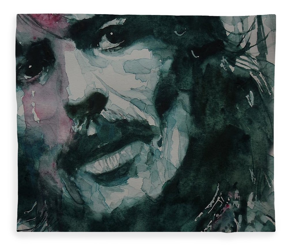 The Beatles Fleece Blanket featuring the painting George Harrison - All Things Must Pass by Paul Lovering