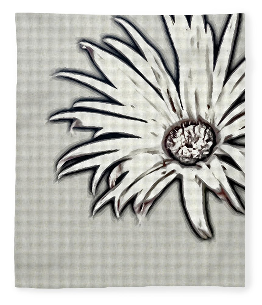 Rockville Fleece Blanket featuring the photograph Gerbera Flower Shape by Maria Mosolova
