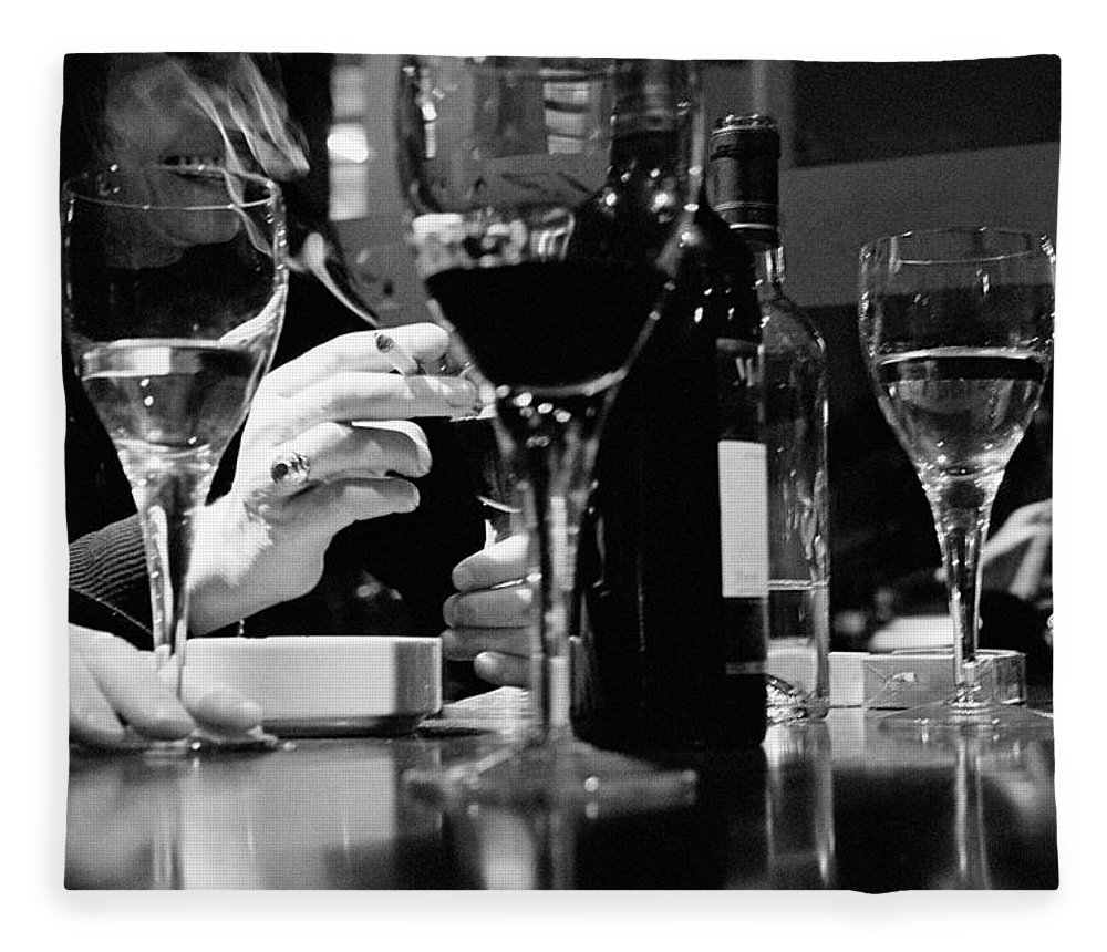 Smoking Fleece Blanket featuring the photograph Glasses Of Wine by Matt Carr