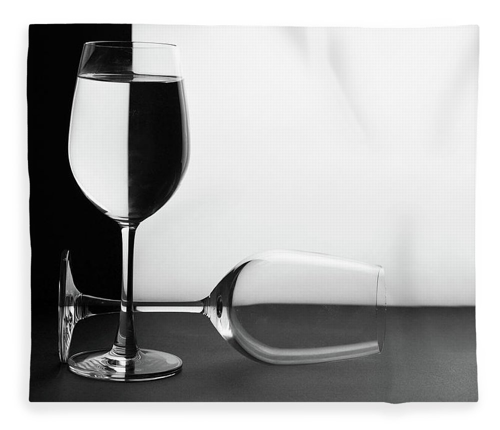 Alcohol Fleece Blanket featuring the photograph Glasses by Photo By Bhaskar Dutta