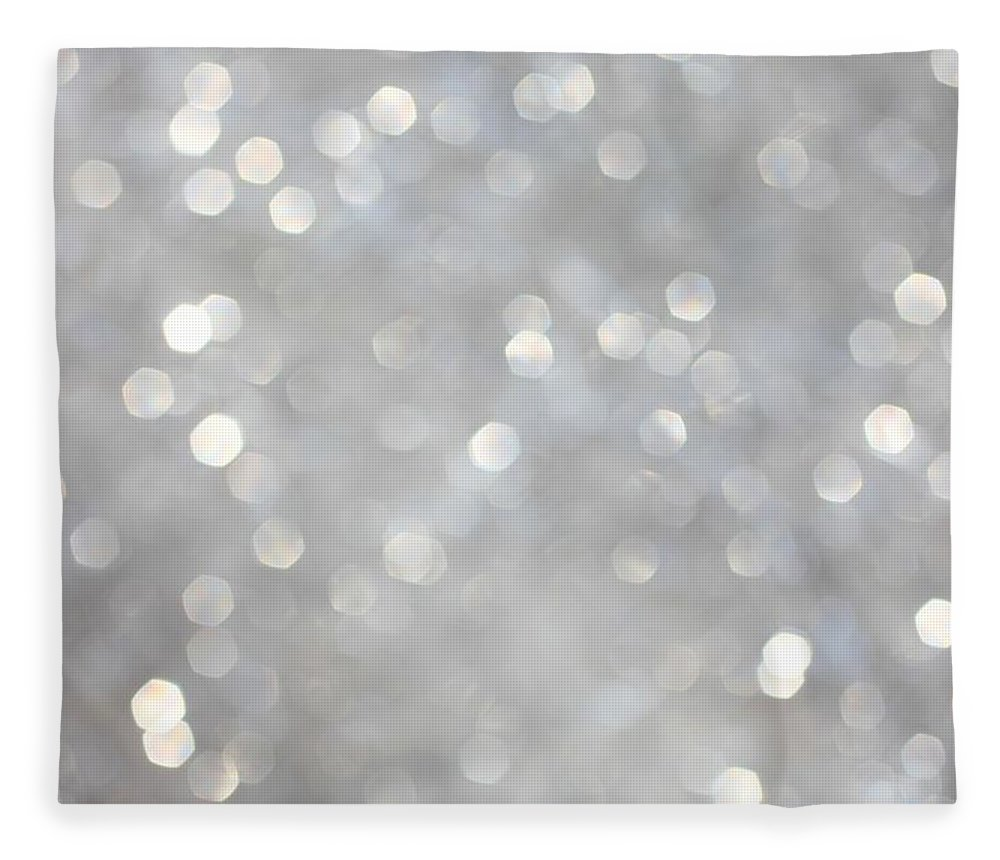Holiday Fleece Blanket featuring the photograph Glittery Background by Merrymoonmary