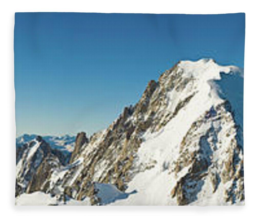Scenics Fleece Blanket featuring the photograph Glorious Mountain Vista Xxxl by Fotovoyager