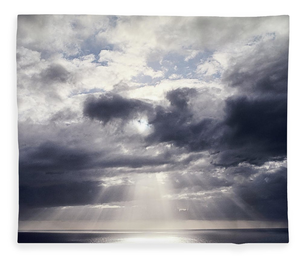 Scenics Fleece Blanket featuring the photograph Gods Above Us by Ioseph
