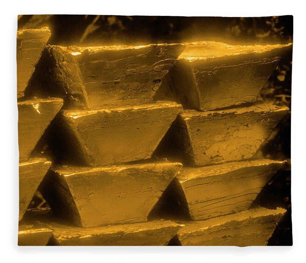 1980-1989 Fleece Blanket featuring the photograph Gold Bullion Bars by Lyle Leduc