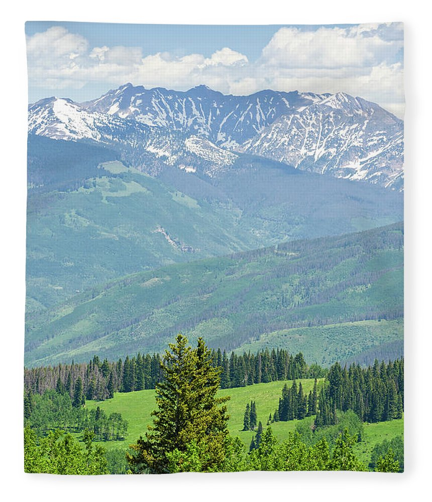 Scenics Fleece Blanket featuring the photograph Gore Range Mountains In Summer Colorado by Adventure photo