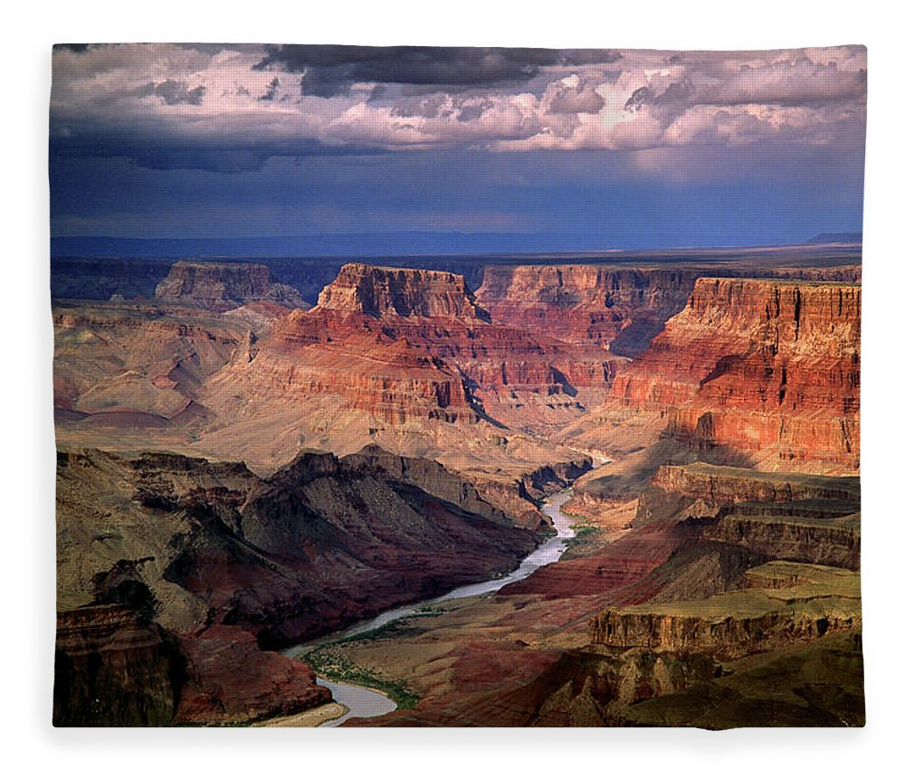 Scenics Fleece Blanket featuring the photograph Grand Canyon, Arizon, Usa by Michael Busselle