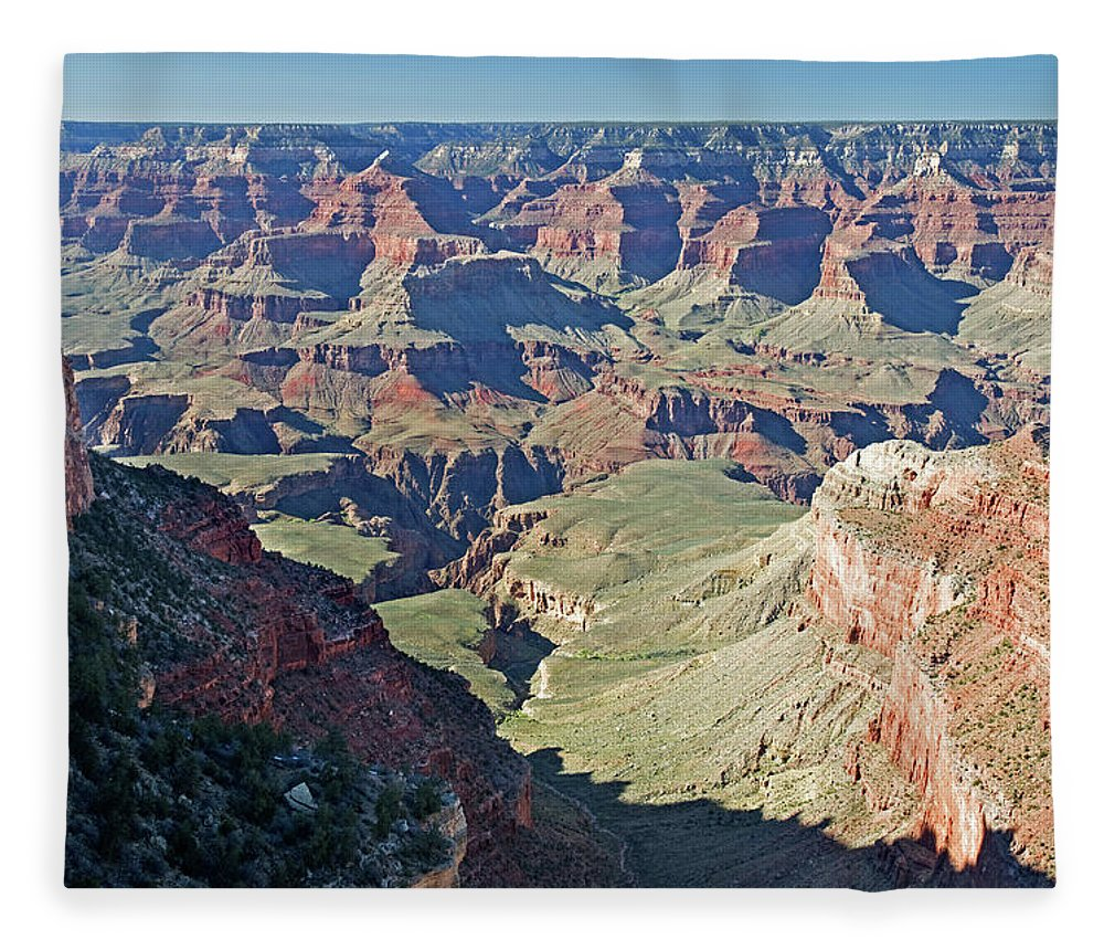 Scenics Fleece Blanket featuring the photograph Grand Canyon Beauty by Mitch Diamond