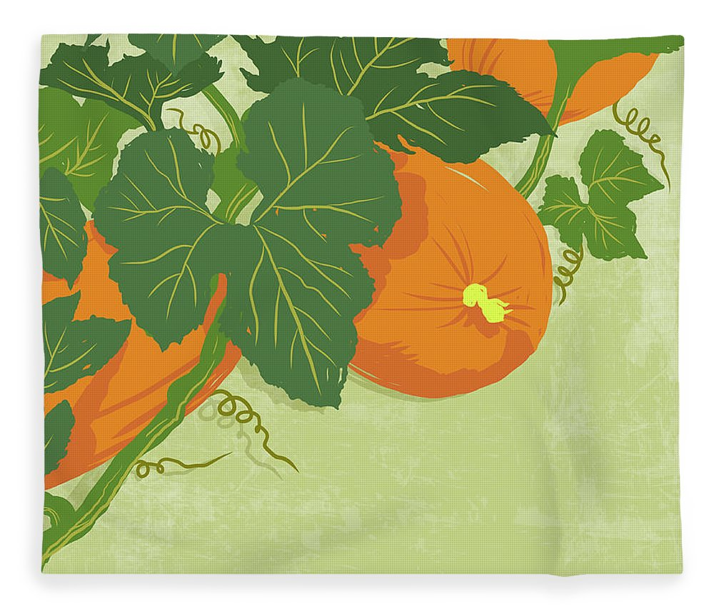 Part Of A Series Fleece Blanket featuring the digital art Graphic Illustration Of Pumpkins by Don Bishop