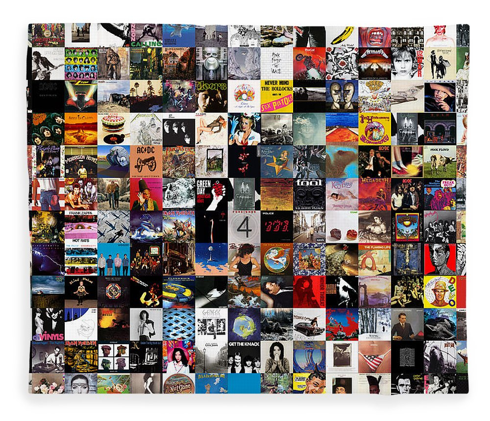 Album Covers Fleece Blanket featuring the digital art Greatest Album Covers of All Time by Zapista OU