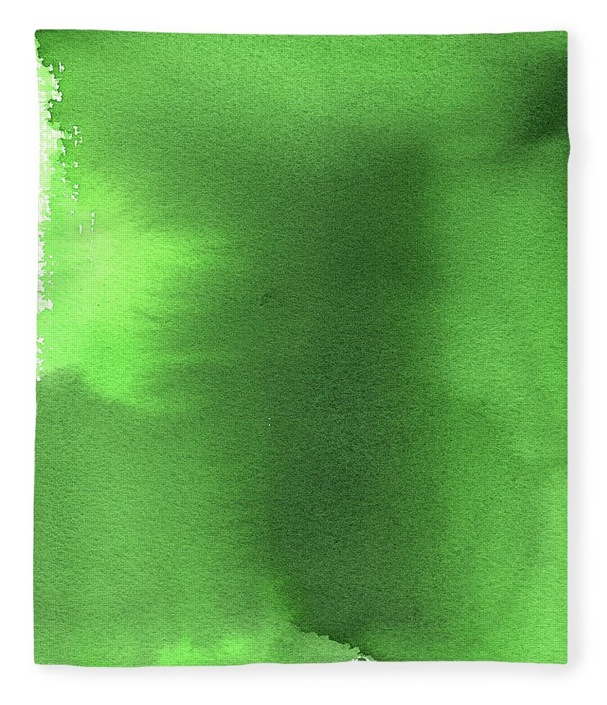 Watercolor Painting Fleece Blanket featuring the digital art Green Background Watercolor Painting by Taice
