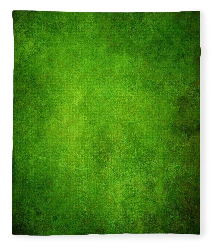 Stained Fleece Blanket featuring the photograph Green Grunge Background by Mammuth