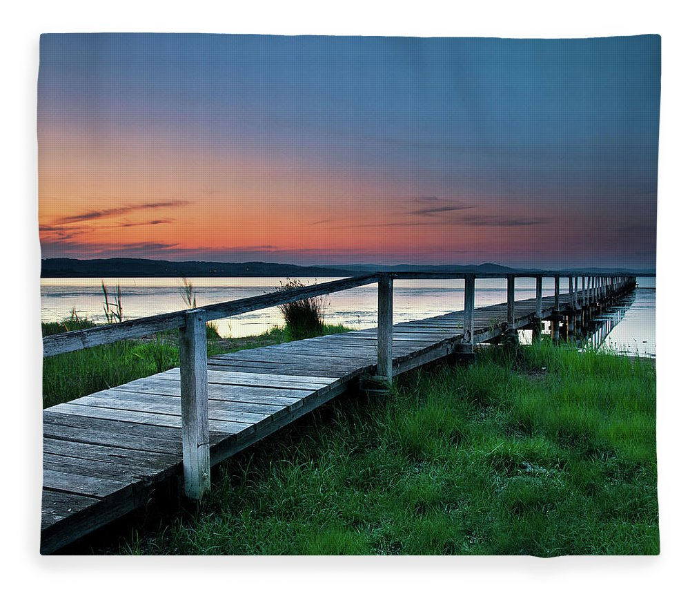 Tranquility Fleece Blanket featuring the photograph Greener On The Other Side by Photography By Carlo Olegario