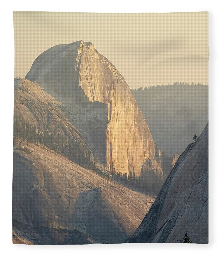 Scenics Fleece Blanket featuring the photograph Half Dome At Sunset, Olmsted Point by James Hager / Robertharding