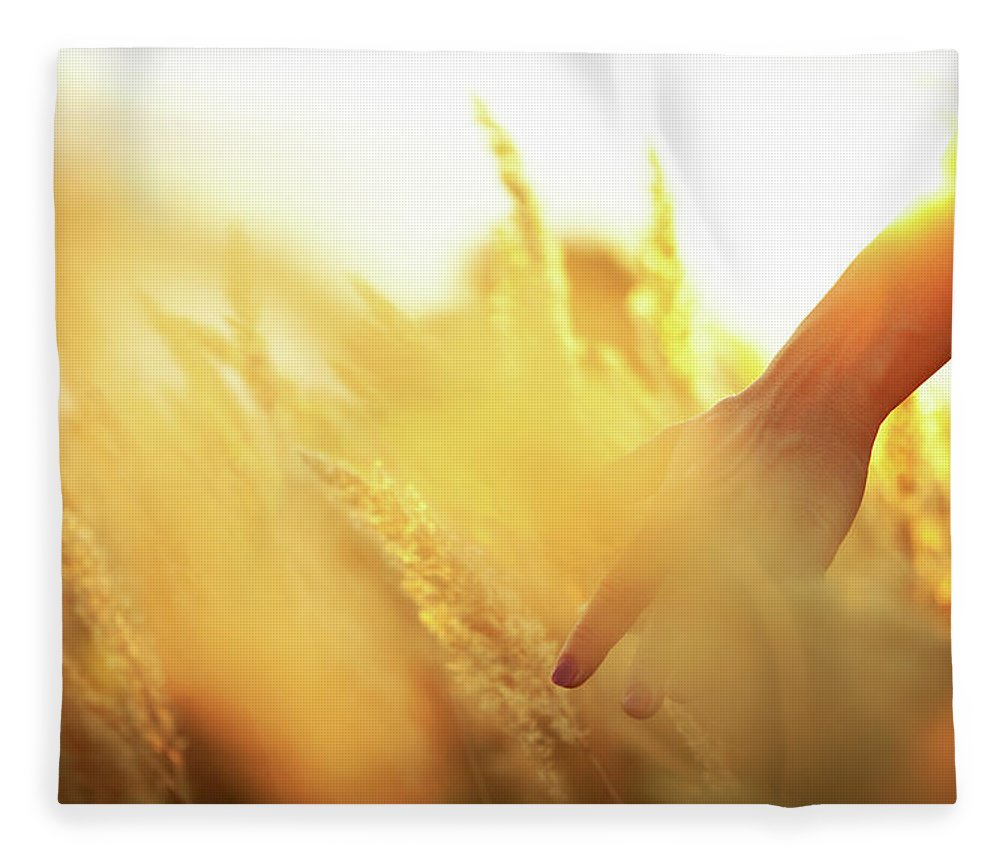 Farm Worker Fleece Blanket featuring the photograph Harvest In The Morning by Aleksandarnakic