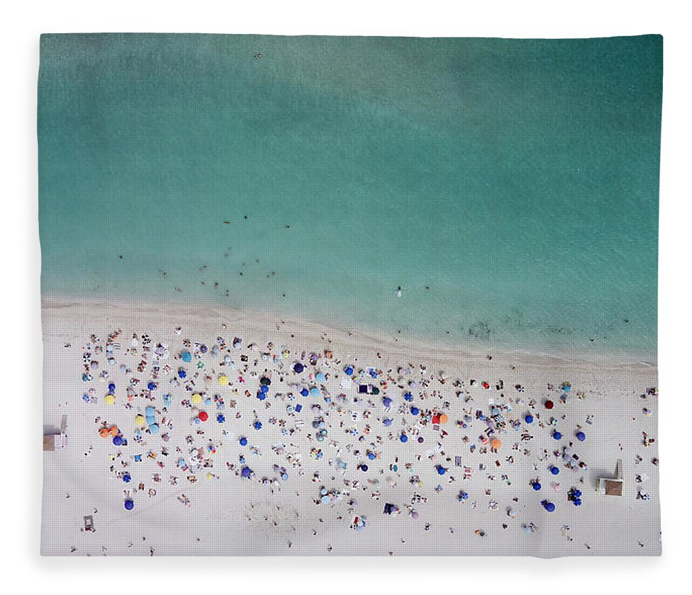 Water's Edge Fleece Blanket featuring the photograph Haulover, Miami by Copyright Www.floridaphoto.com 305.235.7051