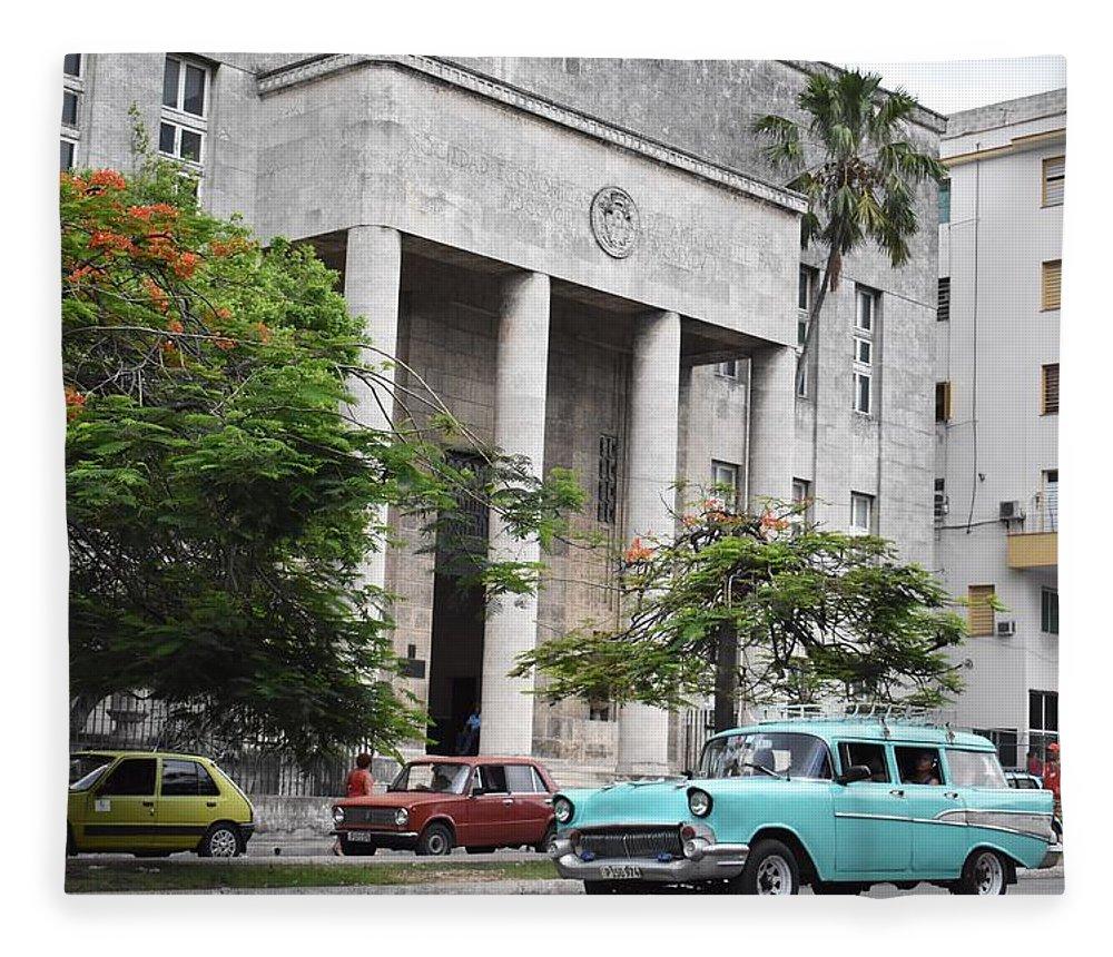 Havana Fleece Blanket featuring the photograph Havana by Cassidy Marshall