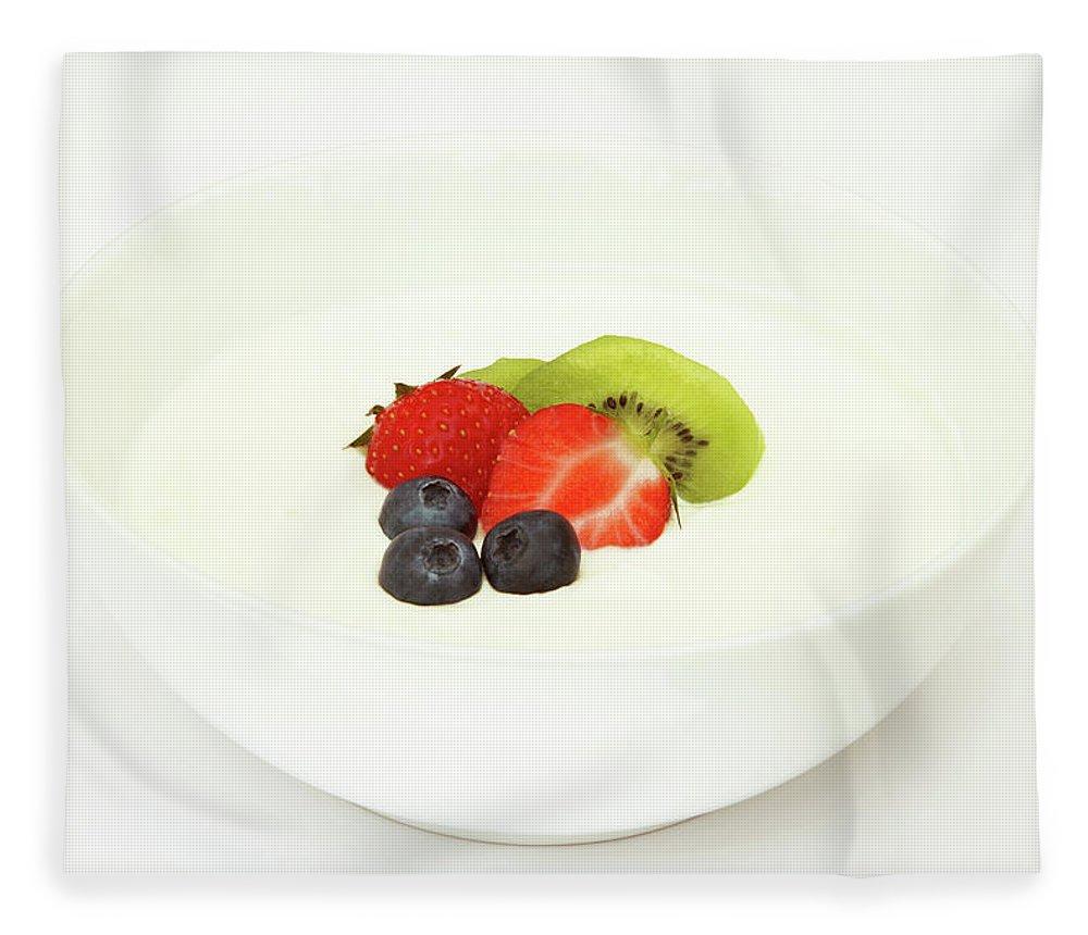 Breakfast Fleece Blanket featuring the photograph Healthy Breakfast, Snack Or Dessert by Rosemary Calvert