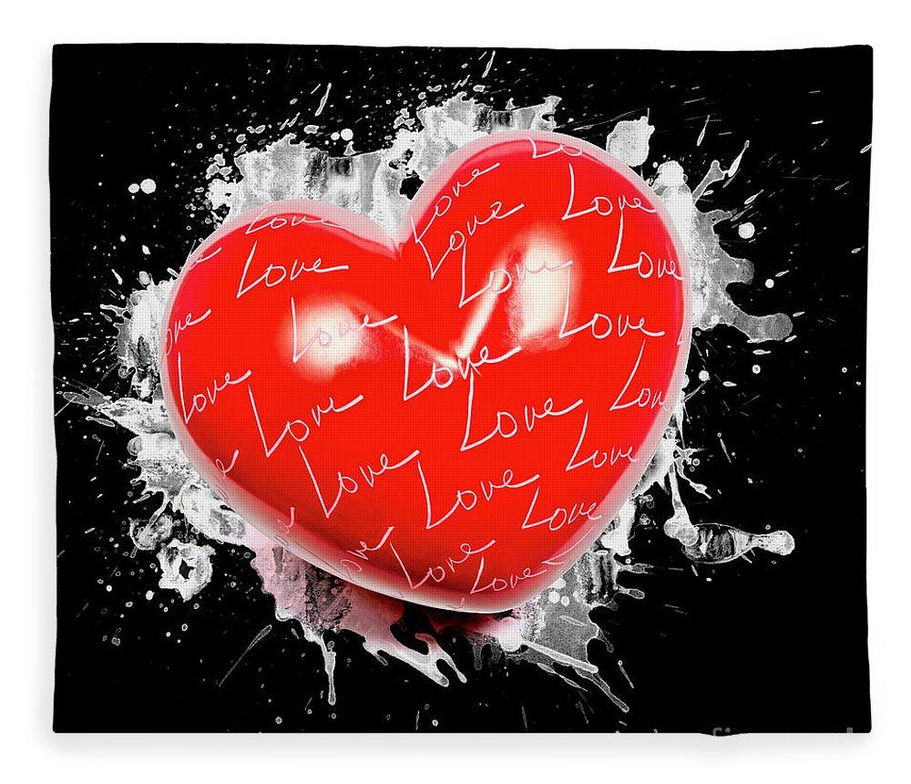 Love Fleece Blanket featuring the photograph Heart Art by Jorgo Photography - Wall Art Gallery