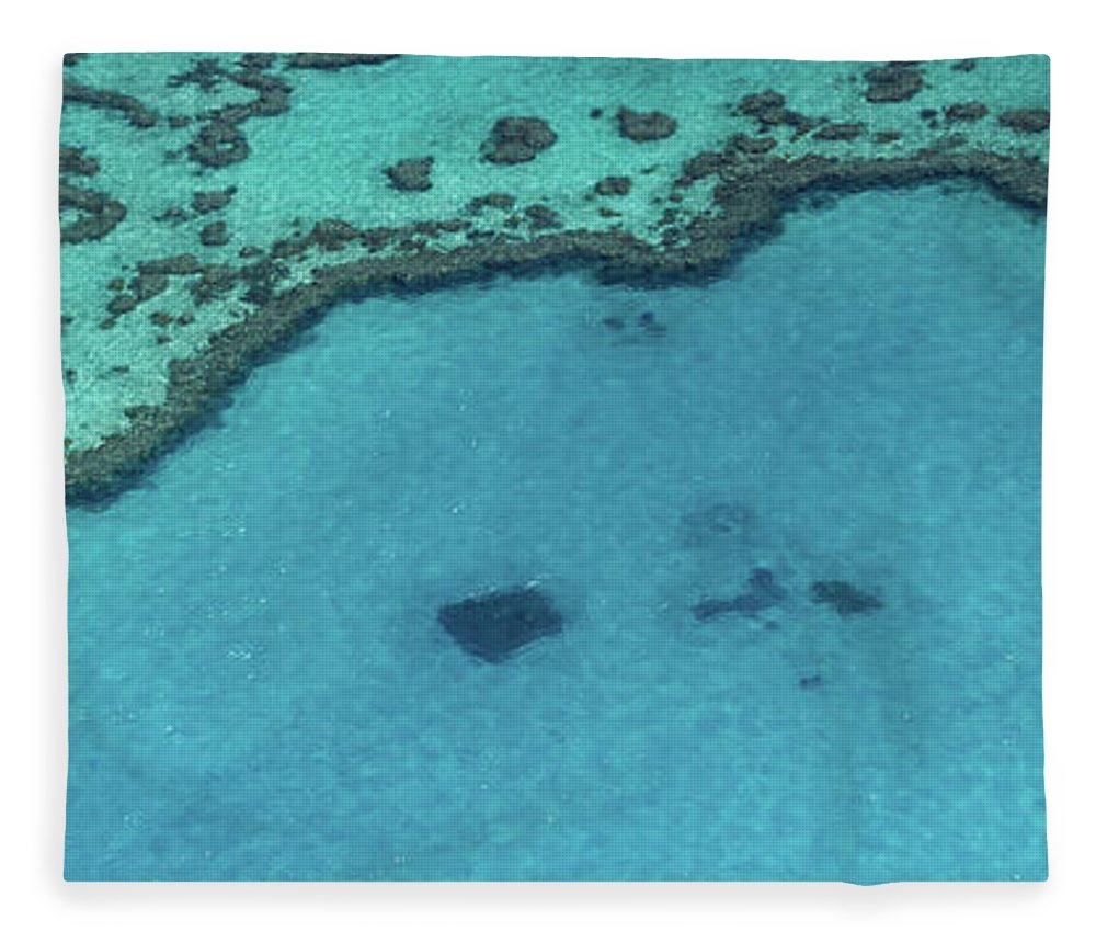 Panoramic Fleece Blanket featuring the photograph Heart Reef, Great Barrier Reef by Francesco Riccardo Iacomino