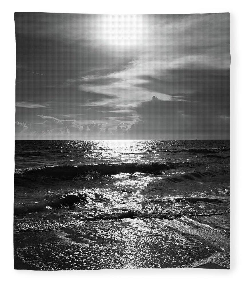 Water's Edge Fleece Blanket featuring the photograph Helios by Robert S. Donovan