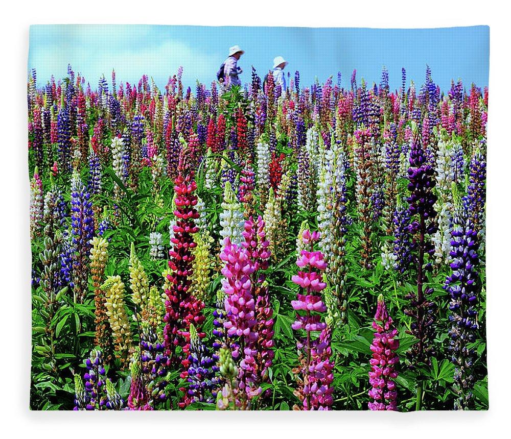 Scenics Fleece Blanket featuring the photograph Hokkaido by Frank Chen