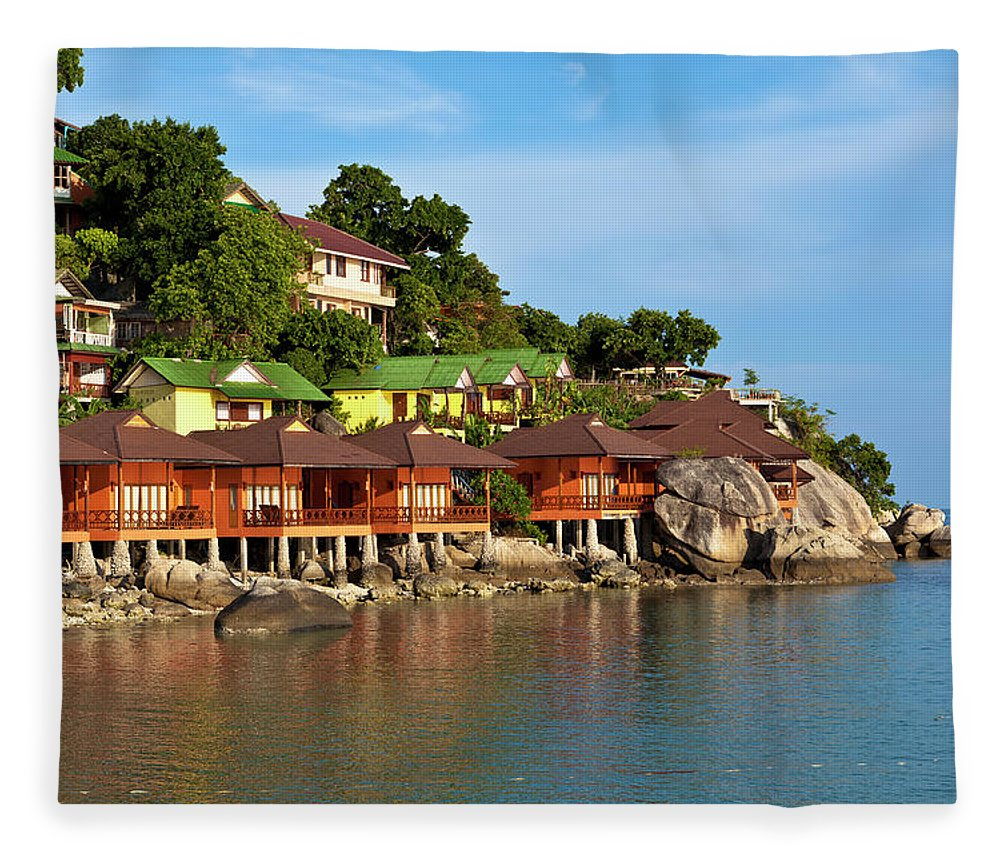 Vacations Fleece Blanket featuring the photograph Holiday Villas by 35007