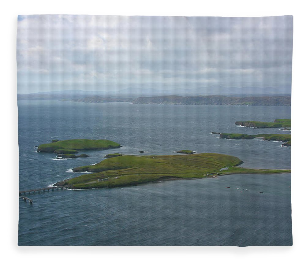 Tranquility Fleece Blanket featuring the photograph Holm, Stornoway, Isle Of Lewis by Donald Morrison