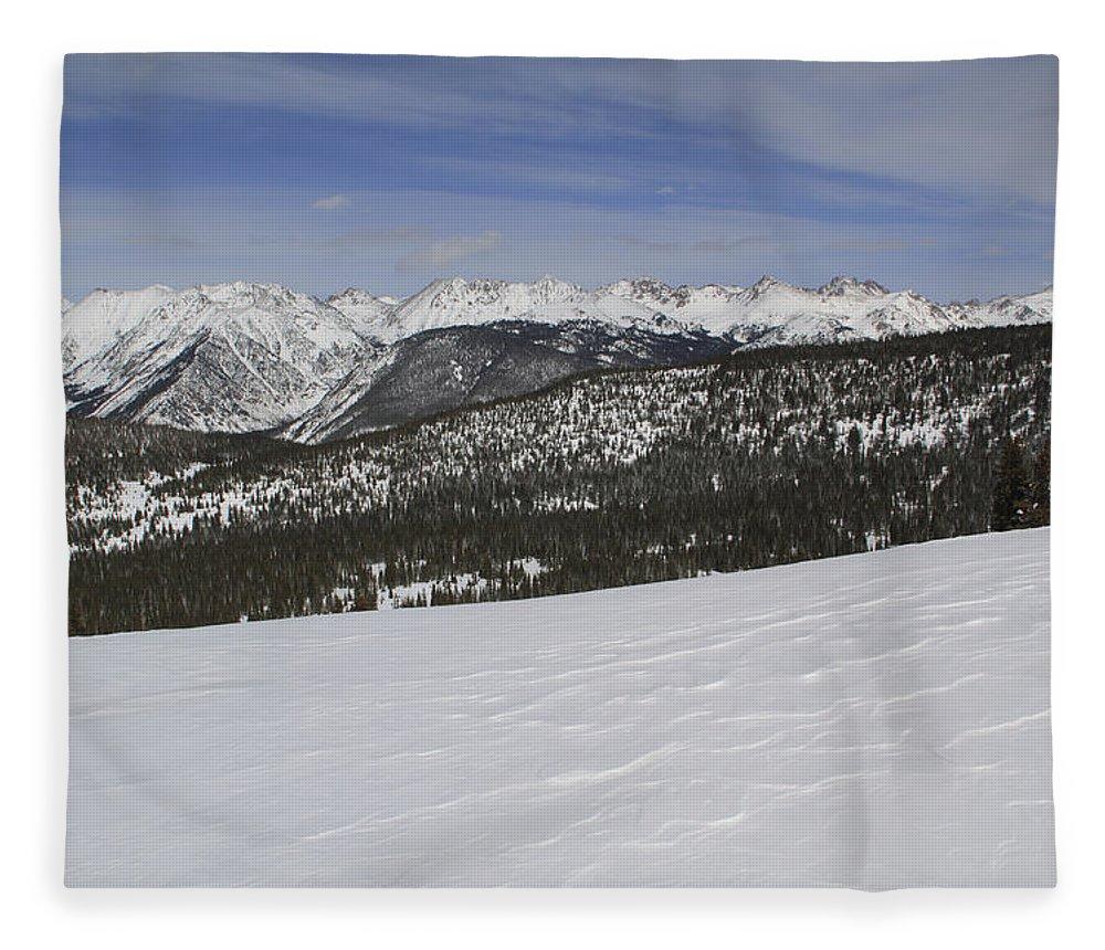 Scenics Fleece Blanket featuring the photograph Holy Cross Wilderness Area In Winter by John Kieffer